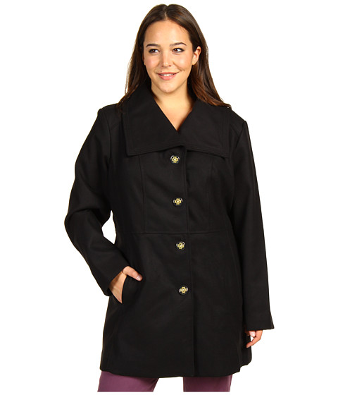 Jachete Jessica Simpson - Plus Size Wing Collar Coat - Black
