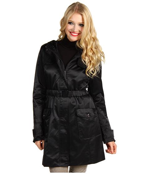 Jachete Jessica Simpson - Satin Hooded Belted Raincoat - Black