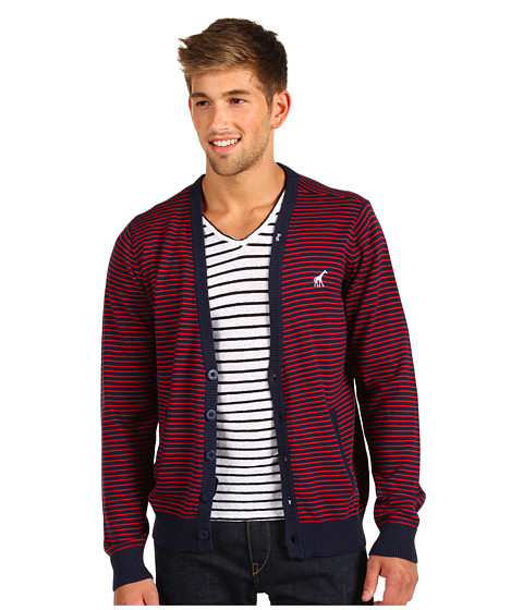 Pulovere L-R-G - Core Collection Striped Cardigan - Navy