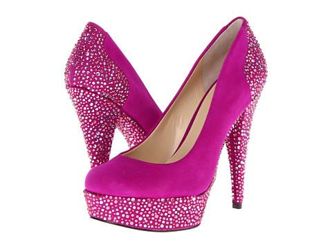 Pantofi Enzo Angiolini - Beccalyn - Dark Pink Suede