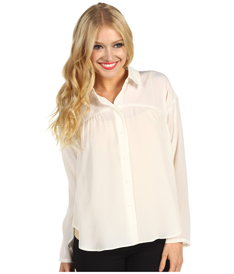 Camasi BCBGeneration - Circle Hem Shirt - Chalk