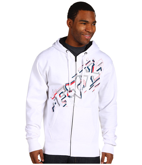 Bluze Fox - Schematica Zip Front Fleece - White