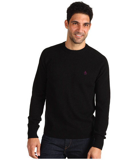 Pulovere Original Penguin - Test Her Raglan Jersey Sweater - True Black