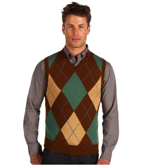 Pulovere DSQUARED2 - Argyle Sweater Vest - Mud/Blue/Green/Ochre