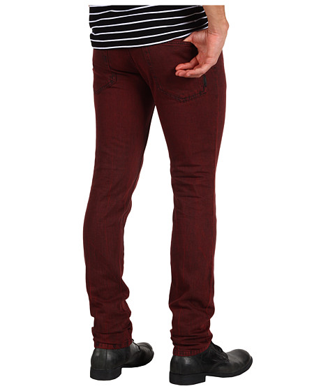 Blugi Just Cavalli - Slim Fit Jean in Bordeaux - Bordeaux