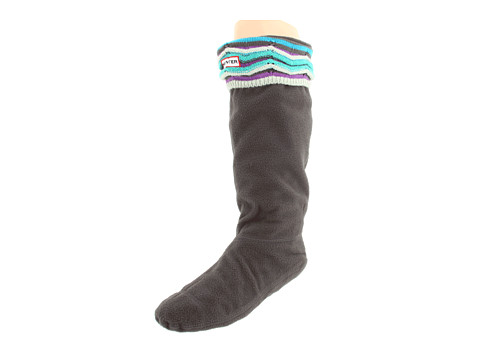 Diverse Hunter - Zig Zag Sock - Green Blue