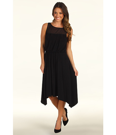 Rochii Vince Camuto - Sheer Inset Dress VC2P1552 - Black