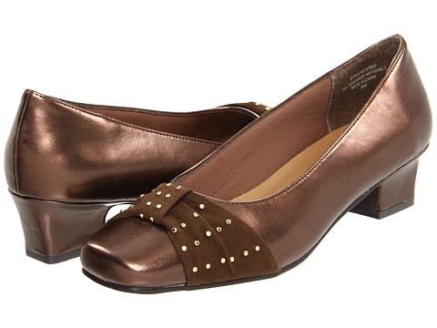Pantofi Annie - Ivie - Bronze/Brown Velvet Suede