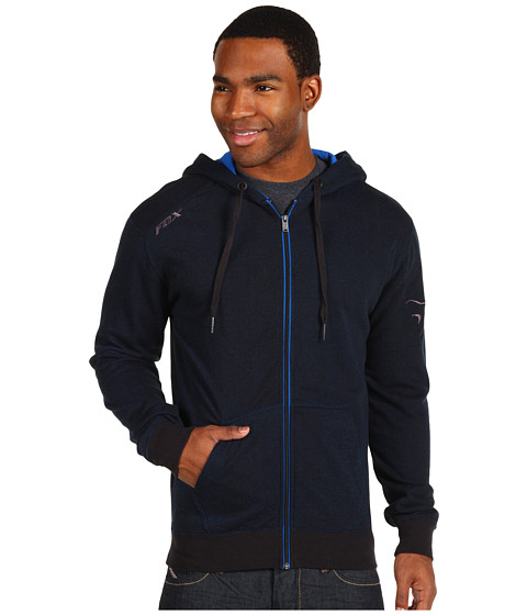Bluze Fox - Outfoxed Zip Front Fleece - Black