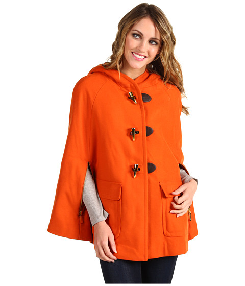 Jachete Michael Kors - Toggle Front Hooded Melton Cape - Orange Spice
