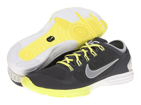 Adidasi Nike - Lunar Hyperworkout XT+ - Dark Grey/ Electric Yellow/Strata Grey/Metallic Silver