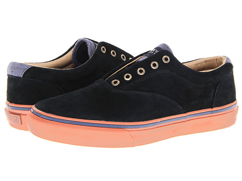 Adidasi Sperry Top-Sider - Striper Laceless Suede - Black Suede