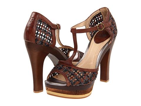 Sandale Frye - Kara Woven T - Dark Brown/Black