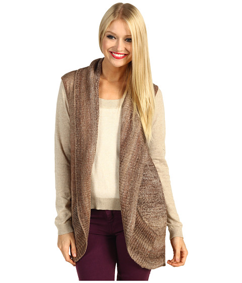 Pulovere Michael Stars - Ombre Marl Convertible Sweater Vest - Bittersweet