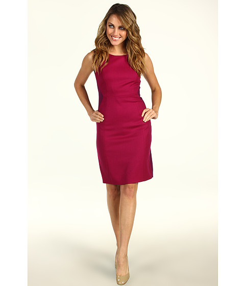 Rochii Elie Tahari - Estelle Dress - Pink Blossom/Wine Purple