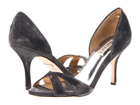 Pantofi Badgley Mischka - Mystery - Black Glitter Fabric