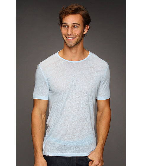 Tricouri John Varvatos - S/S Linen Crew T-Shirt - Cornflower