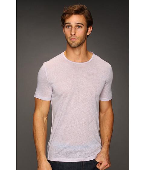 Tricouri John Varvatos - S/S Linen Crew T-Shirt - Lilac