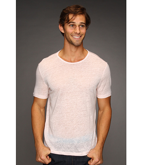Tricouri John Varvatos - S/S Linen Crew T-Shirt - Scallop