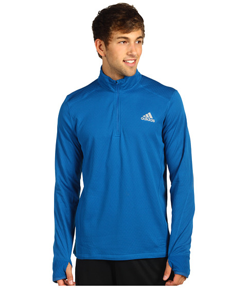 Bluze adidas - Flagstaff L/S Three-Quarter Zip - Dark Royal