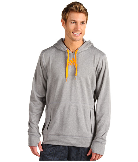 Bluze adidas - Ultimate Tech Pullover Hoodie - Aluminium2/Bright Gold