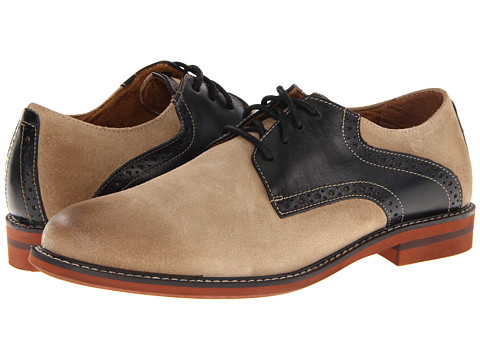 Pantofi Florsheim - Doon Saddle - Gaucho Suede/Black Smooth Leather