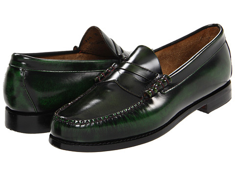 Pantofi Bass - Larson 2 - Green Camaleon Leather