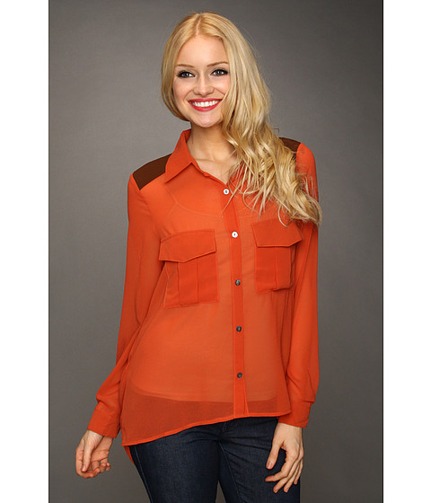 Bluze Gabriella Rocha - Doreen Open Back Blouse - Rust