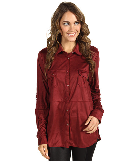 Bluze Gabriella Rocha - Erma Button Down Long Sleeve Top - Red