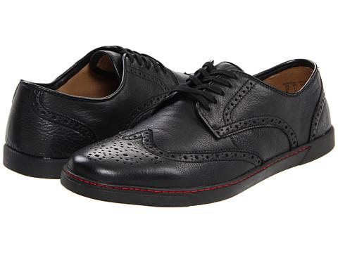 Pantofi Hush Puppies - Carver - Black Leather/Black