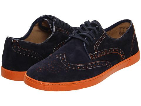 Pantofi Hush Puppies - Carver - Navy Suede/Orange