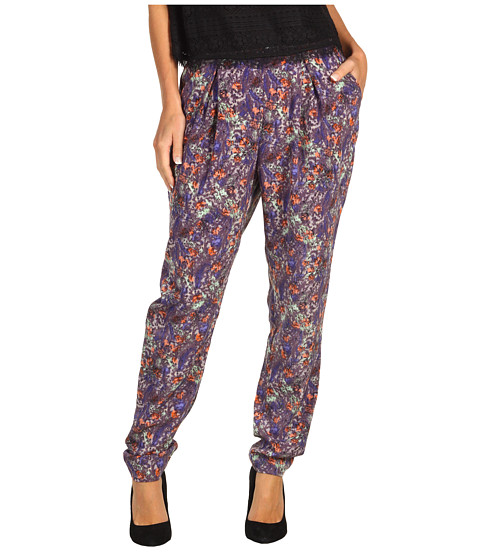 Pantaloni BCBGeneration - Printed Pleat Front Pant - Cobalt Multi
