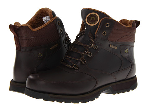 Ghete Rockport - Peakview Waterproof Lace Up Boot - Dark Brown