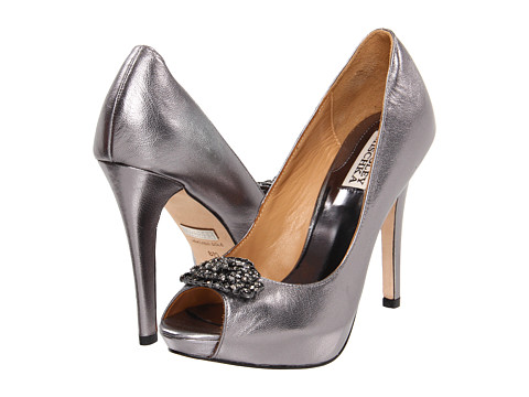 Pantofi Badgley Mischka - Goodie III - Pewter Leather