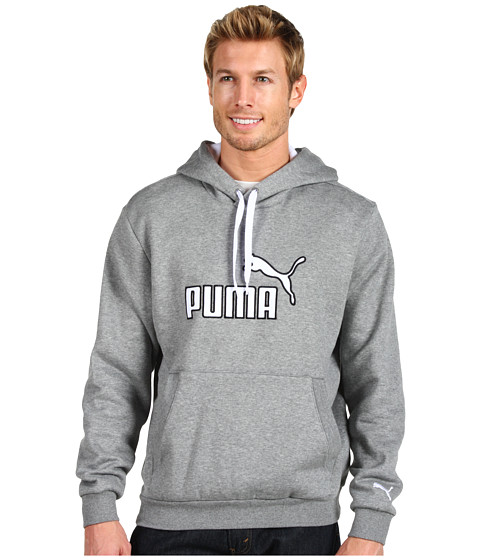 Bluze PUMA - Fleece Pullover - Medium Grey Heather/White