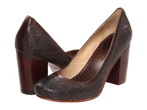Pantofi Frye - Carson Pump - Chocolate Textured Leather
