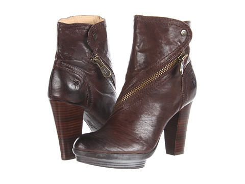 Cizme Frye - Mimi Snap Bootie - Dark Brown Antique Soft Full Grain