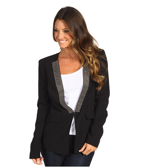 Jachete BCBGMAXAZRIA - Whitley Chain Lapel Jacket - Black