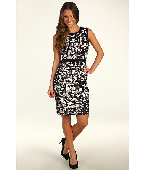Rochii Calvin Klein - Combo Sheath Dress - Black/Birch Multi