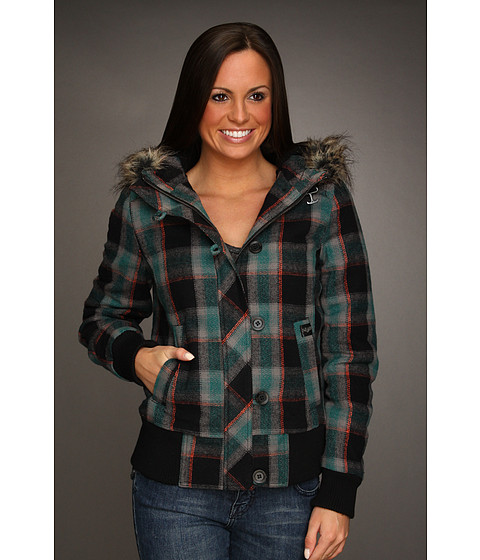 Bluze Fox - Back Country Plaid Bomber - Black