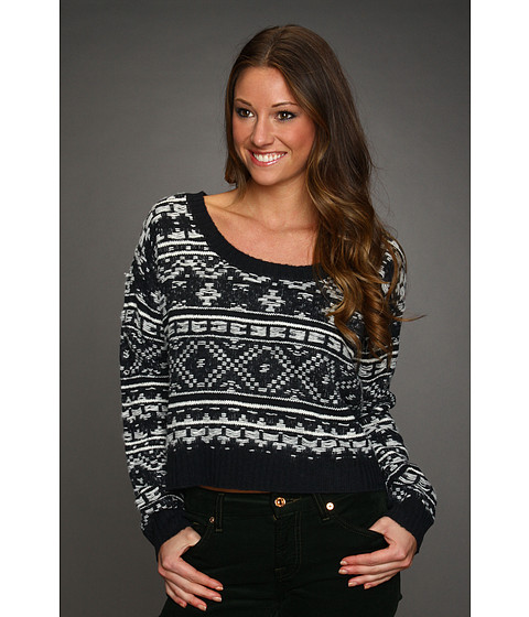 Pulovere Roxy - Elm Sweater (Juniors) - True Black Pattern