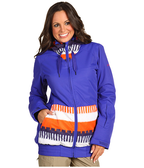 Jachete Roxy - Valley 8K Insulated Hoodie Jacket - Peru Jacquard/Moody Blue
