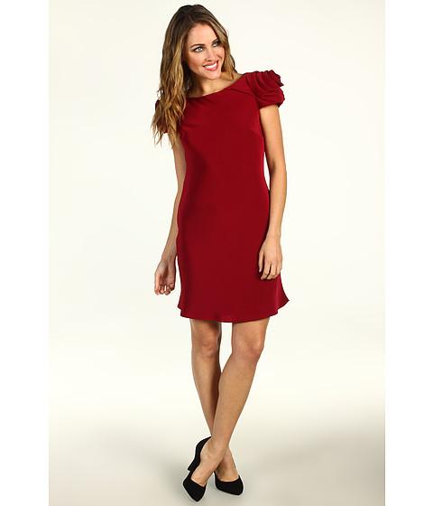 Rochii ABS Allen Schwartz - Rosette Shoulder Dress With Open Back - Crimson