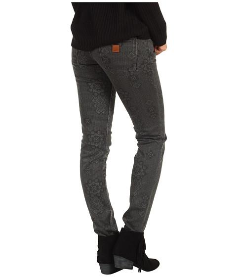 Pantaloni Roxy - Skinny Slides Jean V5 in True Black Print (Juniors) - True Black Print