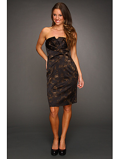 Rochii Jessica Simpson Strapless Tuck Dress Skin Black | mycloset.ro