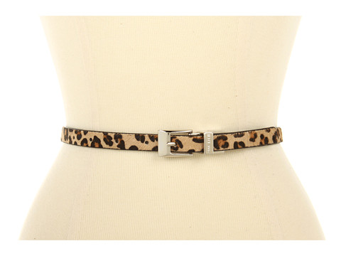 Curele Anne Klein - 15mm Reversible Haircalf Belt - Leopard Black