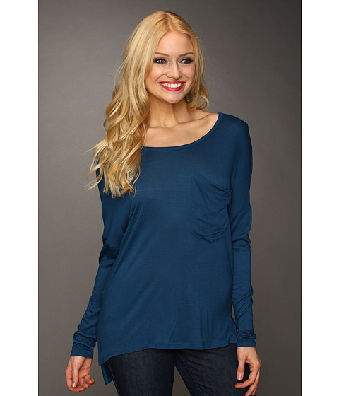 Bluze Christin Michaels - Karae Hi-Lo Top - Teal