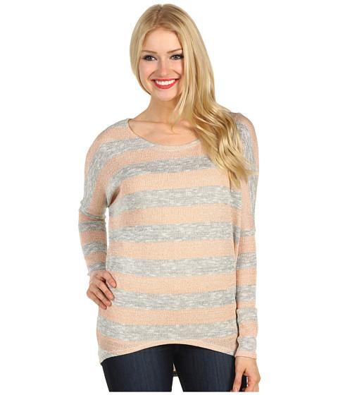 Bluze Christin Michaels - Jesie Hi-Lo Sweater - Pink