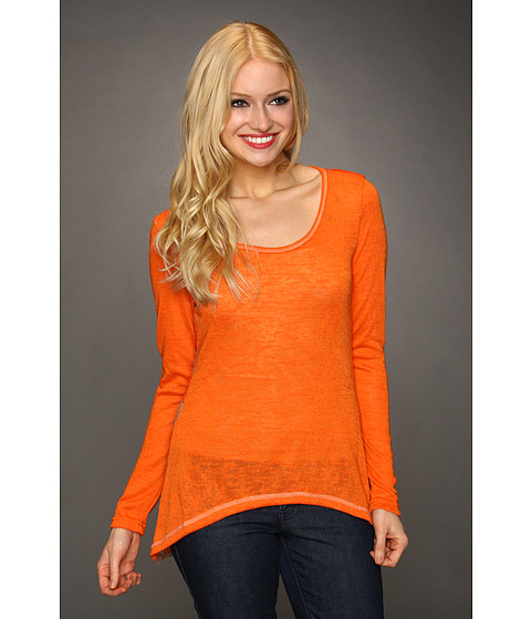 Bluze Christin Michaels - Nalya Striped Back Top - Orange