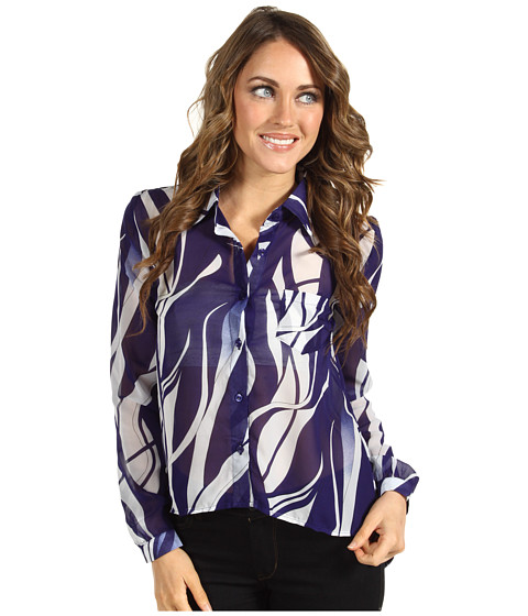 Bluze Christin Michaels - Shellyy Chiffon Blouse - Royal